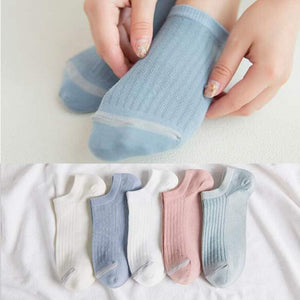 Women Sock Solid Color Simple Low Cut Ankle Socks