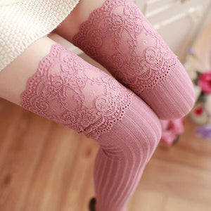Lace Long -Barreled Knee Stockings