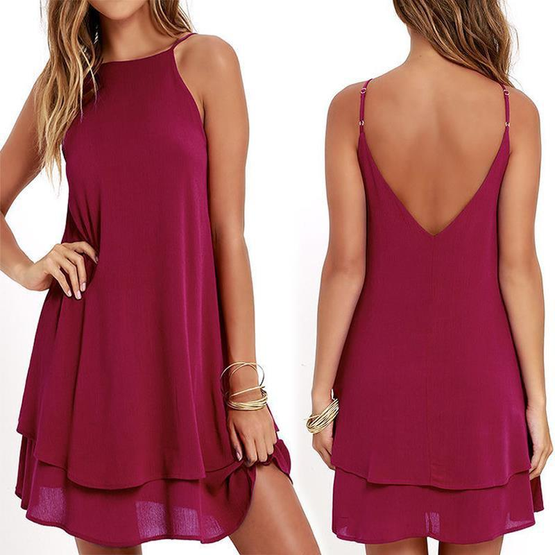 Chiffon Dress Sexy Mini Casual Dresses
