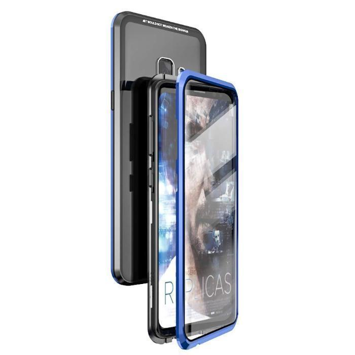 2019 New Magnetic Adsorption Metal Clear Glass Protective Case for Samsung Galaxy S9 / S9 Plus