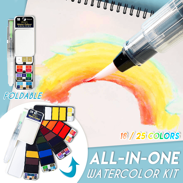 All-In-One Portable Watercolor Kit