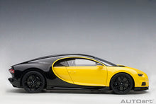 Load image into Gallery viewer, BUGATTI CHIRON 2017 (JAUNE MOLSHEIM YELLOW/NOCTURNE BLACK)