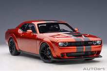 Load image into Gallery viewer, DODGE CHALLENGER SRT HELLCAT WIDEBODY 2018 (SINAMON STICK/DUAL GUNMETAL CENTER STRIPES)