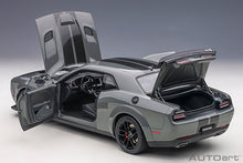 Load image into Gallery viewer, DODGE CHALLENGER SRT HELLCAT WIDEBODY 2018 (DESTROYER GREY/DUAL GUNMETAL CENTER STRIPES)