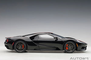 FORD GT 2017 (SHADOW BLACK/ORANGE STRIPES)