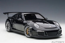 Load image into Gallery viewer, PORSCHE 911(991) GT3 RS (GLOSS BLACK /SILVER WHEELS)