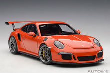 Load image into Gallery viewer, PORSCHE 911(991) GT3 RS (LAVA ORANGE/DARK GREY WHEELS)