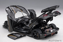 Load image into Gallery viewer, KOENIGSEGG ONE : 1 (CLEAR CARBON FIBER/GOLD STRIPES)
