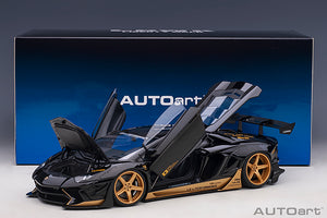 LIBERTY WALK LB-WORKS LAMBORGHINI AVENTADOR LIMITED EDITION (GLOSS BLACK/GOLD ACCENTS)