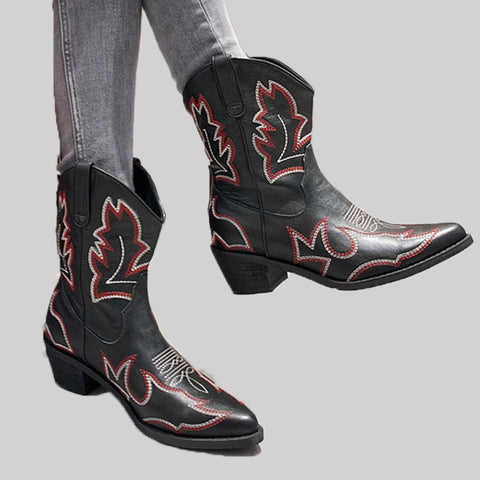 Women's Vintage Thick Heel Boots