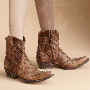 Women's Vintage Rivet Knight Boots