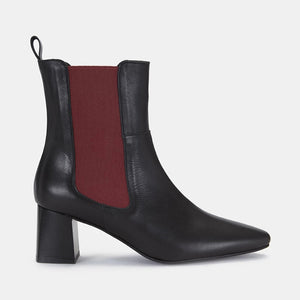 Women's fashion high-heeled low-cut Chelsea boots