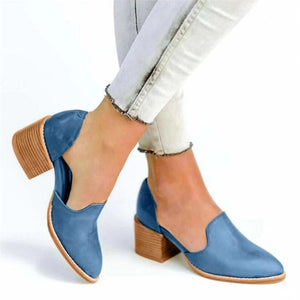 Women's casual solid color pointed high heels