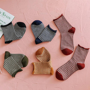 A set of 5 pairs of versatile cotton casual socks