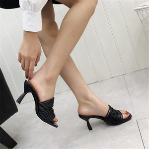Fashion   Versatile High Heel Slippers