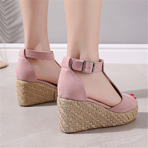 Fashion Vintage   Wedge With Fish Mouth Sandals