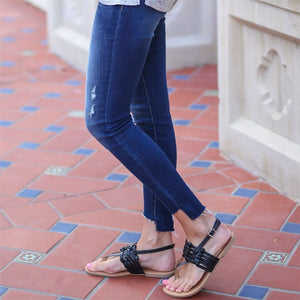 Fashion Vintage Woven Flat Sandals