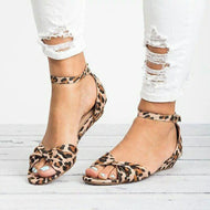 Casual Open-Toed Slingback Buckle Flat Bottom Sandal