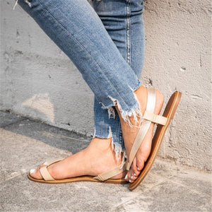 Fashion Retro   Toe Flat Sandals