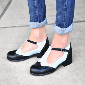 Fashion Retro Comfortable Thick Heel Casual Shoes
