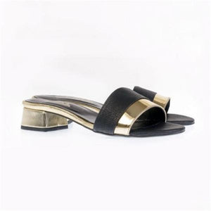 Comfortable Mid-Heeled And Open-Toe Sandals