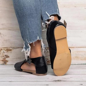 Buckle Flat Fish Mouth Sandals