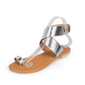Euramerican Style Comfortable Easy Matching Flat Beach Peep-Toe Sandals