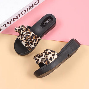 Leopard Thick Platform Slippers