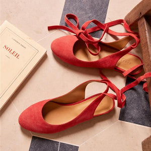 Comfortable Flat Bottom Baotou Cross Strap Sandals