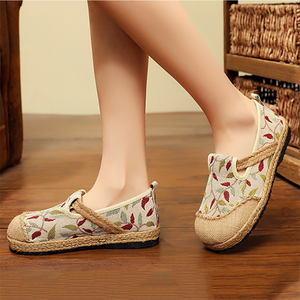 Women's Casual Literary Cotton And Linen Flat Shoes