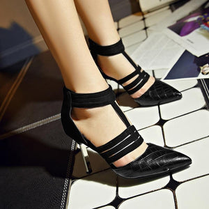 Fashion Sexy Thin Belt High-Top Pointed High Heels