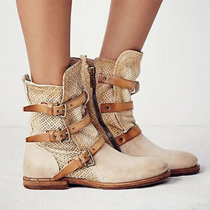 Fashion Women's Side Zip Ankle Boots