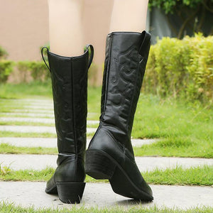 Fashion Contracted Pure Color Kitten Heels Martin Boots