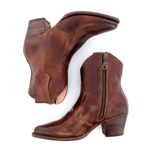 Casual easy matching side zipper martin boots