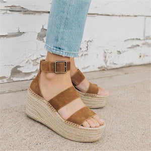 Fashion Simple Woven Wedge Sandals