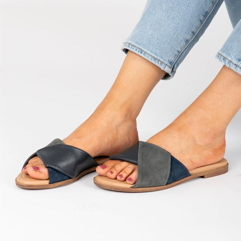 Ladies' Comfy Patchwork Beach Slippers