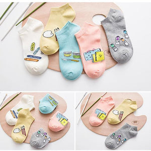A set of ten pairs of socks low to help casual socks