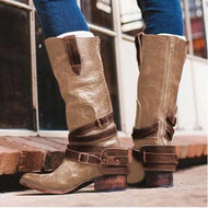 New women's boot with buckle back zipper