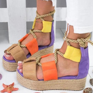 Hemp Rope Footband Strap Sandals