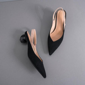 Fashion Simple Pointed Back Sandals