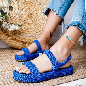Fashion Rope Woven Flat Sandals