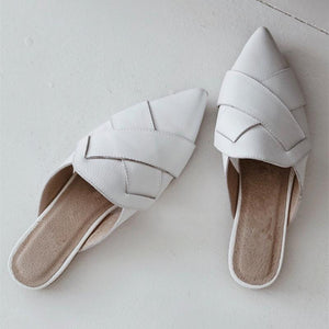 Ladies Comfortable Woven Muller Shoes