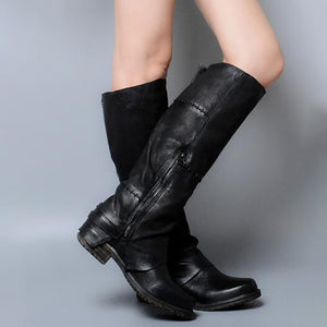 Women's sleek minimalist low heel boots