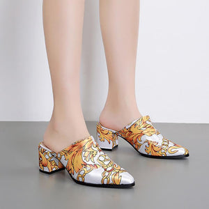Women's fashion printed chunky sandals