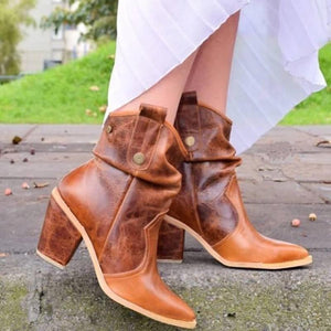 Fashion ladies contracted pointed toes ankle boots