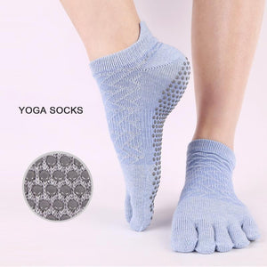 Solid Color Silicone Non-slip Ankle Yoga Socks