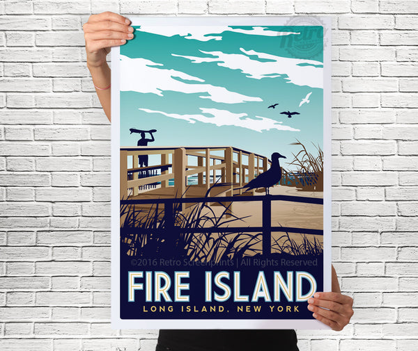 Fire Island New York Full Color Poster