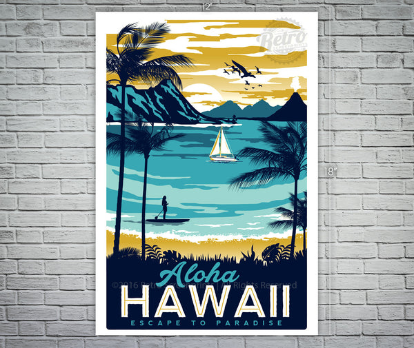 Aloha Hawaii Screen Print/Poster