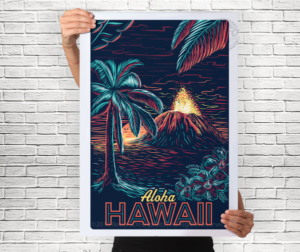 Aloha Hawaii Full Color poster
