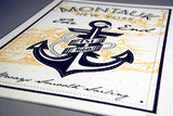 montauk new york anchor screen print